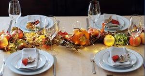 Festive autumn dinner table